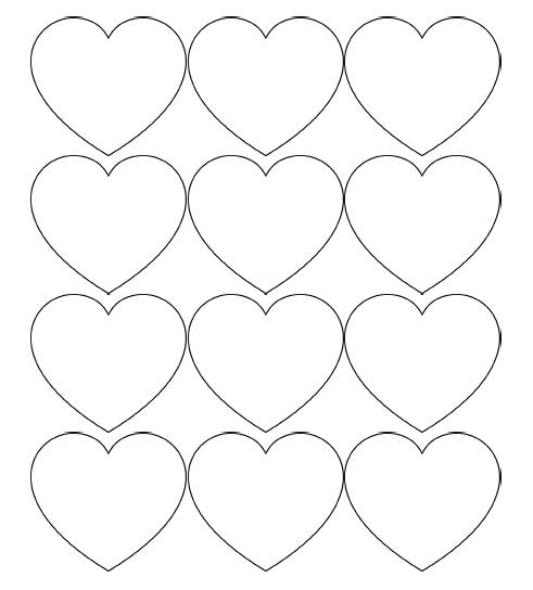 heart printable templates for hearts clipart best heart printable