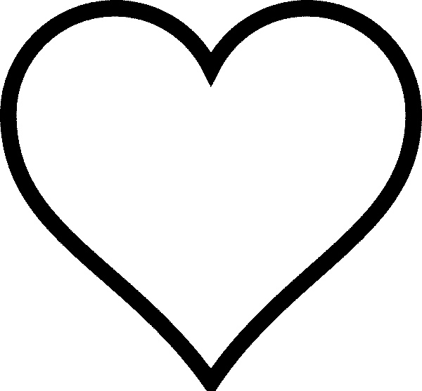 Heart shape for coloring