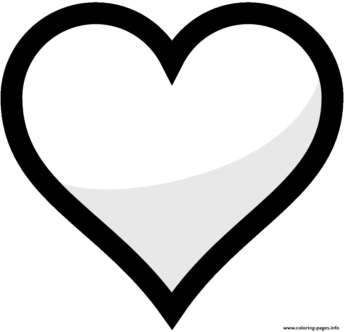 heart shape for coloring hearts coloring pages heart for shape coloring