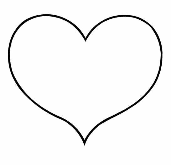 heart shape for coloring shape outlines for quotes quotesgram heart coloring shape for
