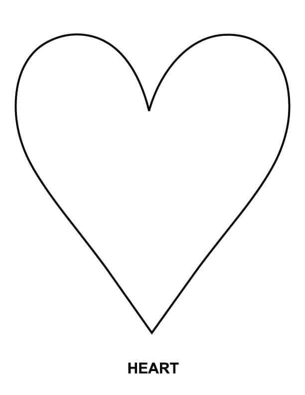 heart shape for coloring small heart outline clipart best for shape coloring heart