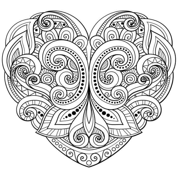 heart to color free hearts coloring pages for adults printable to color to heart