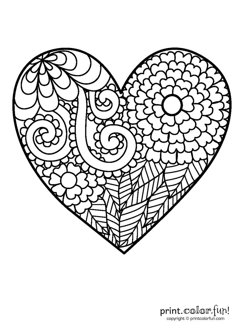 heart to color free printable coloring pages hearts 2015 to color heart