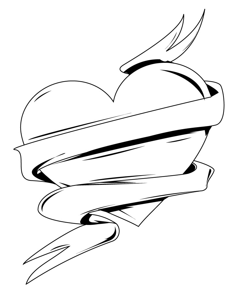 heart to color printable coloring pages for adults flowers at getdrawings to heart color