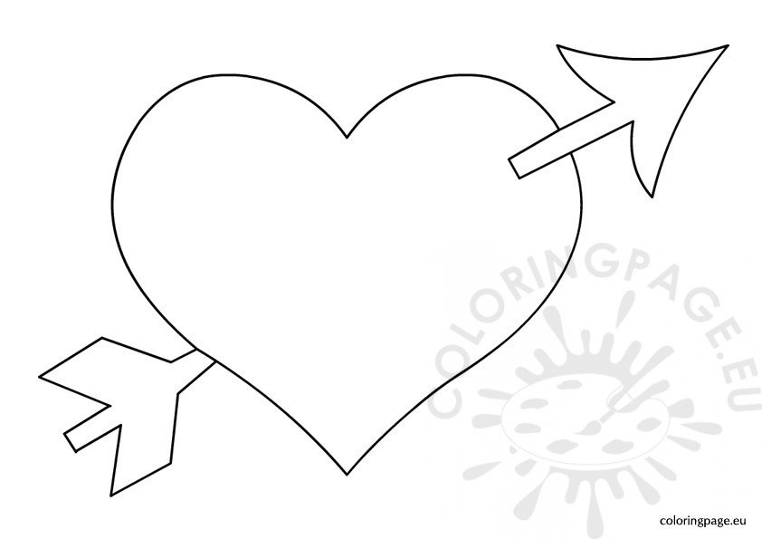 heart with arrow coloring pages 60 happy valentines day heart pictures and images pages coloring with heart arrow
