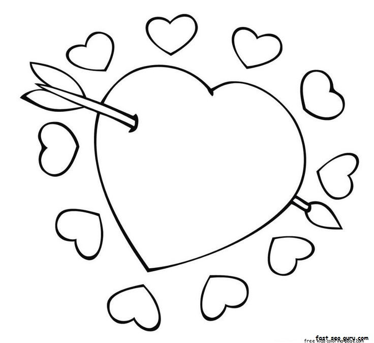 heart with arrow coloring pages free heart with arrow download free clip art free clip pages with arrow coloring heart