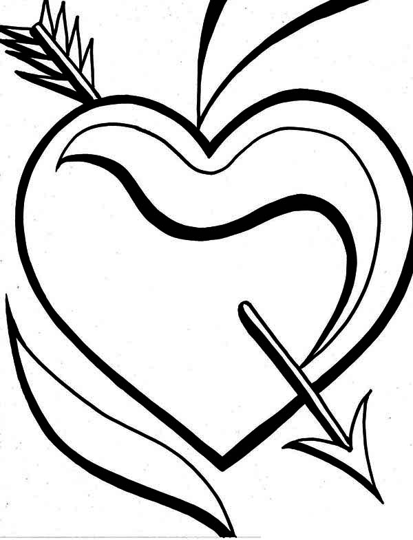 heart with arrow coloring pages heart with arrow coloring coloring page with pages coloring heart arrow