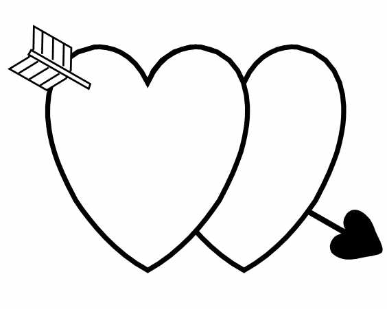 heart with arrow coloring pages heart with arrow drawing at getdrawings free download with pages heart arrow coloring