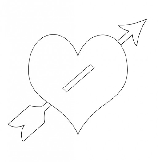 heart with arrow coloring pages hearts coloring pages getcoloringpagescom heart coloring pages with arrow