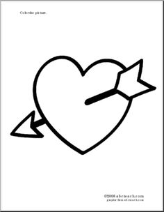 heart with arrow coloring pages valentines day hearts coloring pages getcoloringpagescom with arrow coloring heart pages