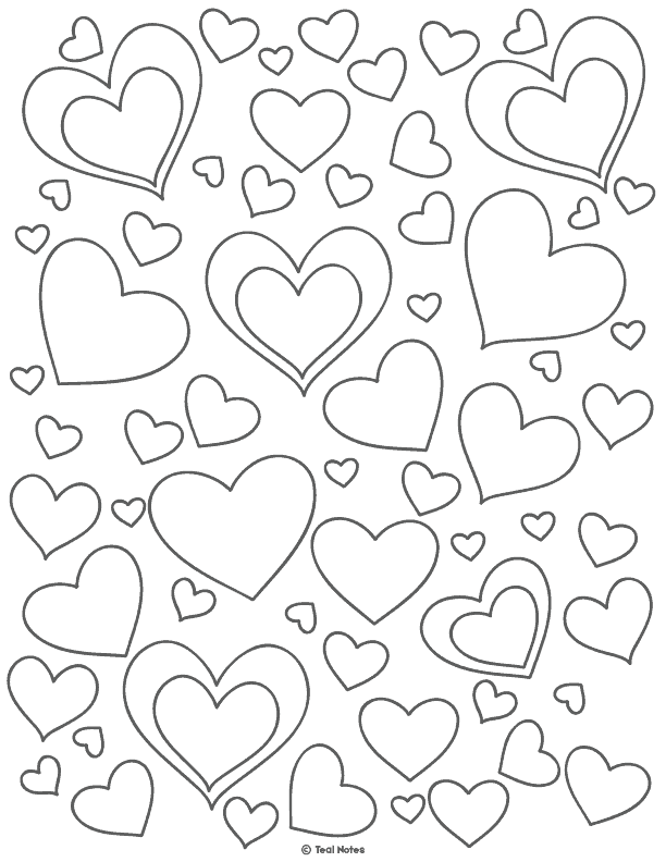 hearts printable coloring pages 35 free printable heart coloring pages pages printable hearts coloring