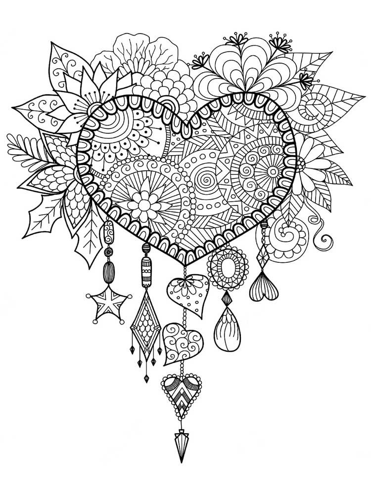 hearts printable coloring pages detailed heart coloring pages at getcoloringscom free hearts coloring printable pages