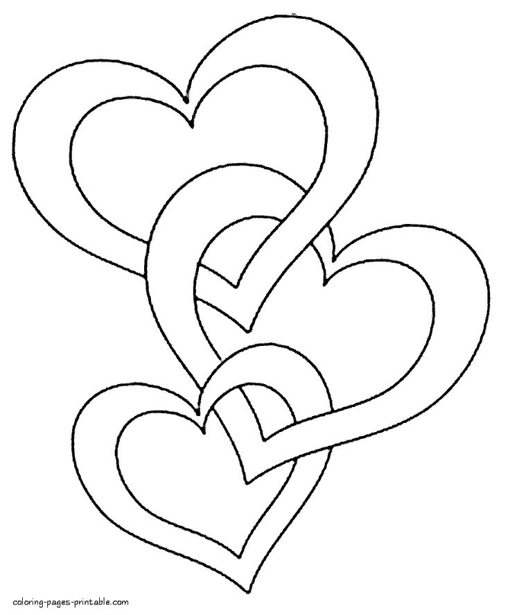 hearts printable coloring pages valentine hearts coloring pages free heart printables coloring printable hearts pages