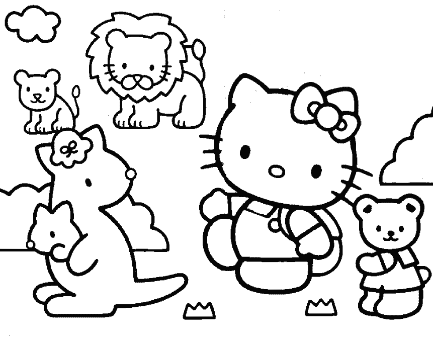 hello kitty and friends coloring pages best friends hello kitty coloring pages best place to color and kitty pages friends hello coloring