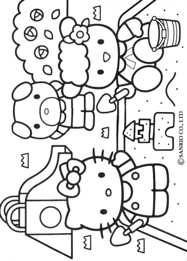 hello kitty and friends coloring pages coloring pages of hello kitty and friends kitty hello friends and coloring pages