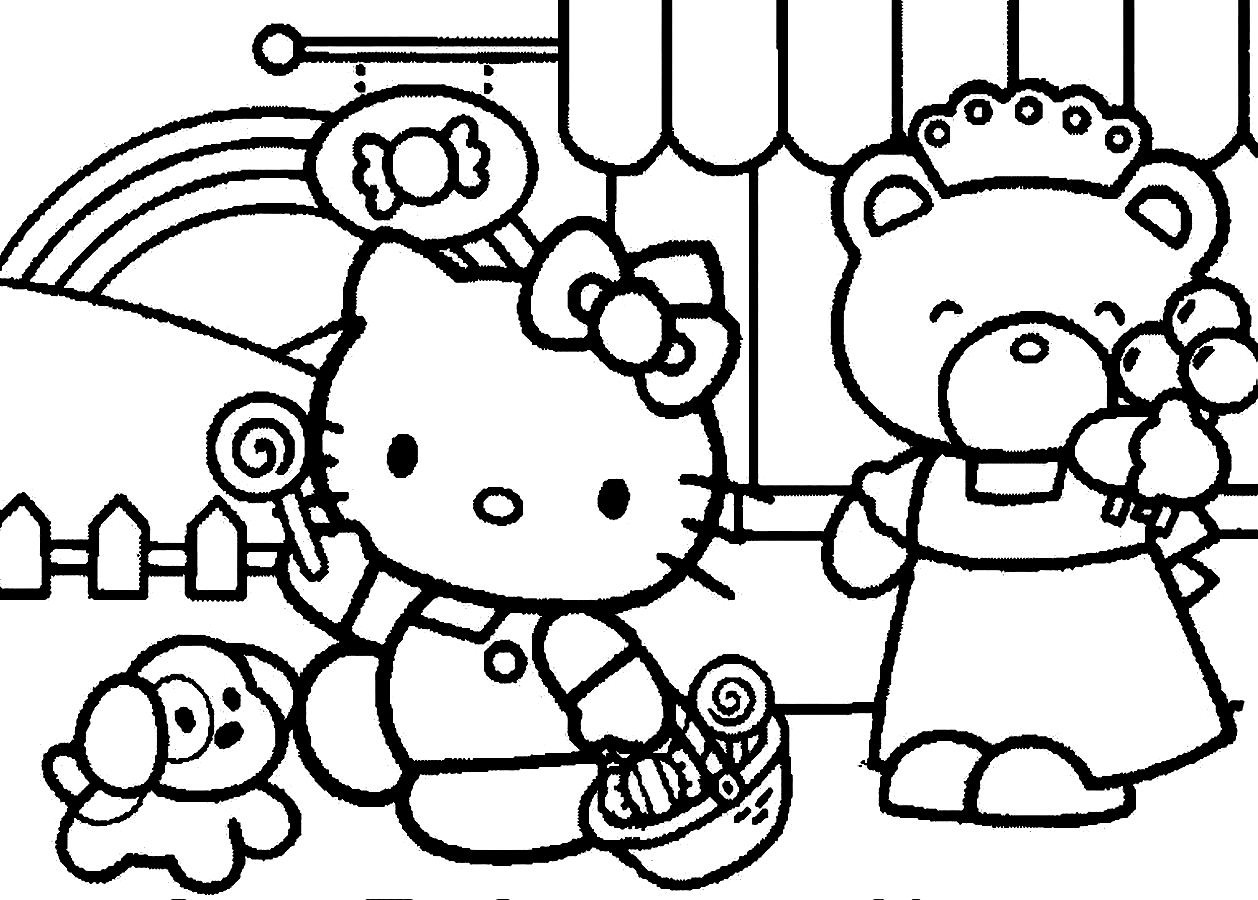 hello kitty and friends coloring pages hd hello kitty and friends coloring pages images free hello and pages friends coloring kitty
