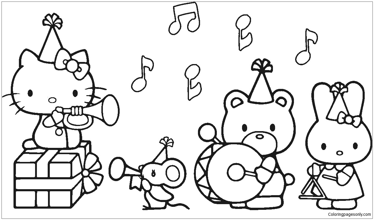 hello kitty and friends coloring pages hello kitty and friends coloring pages at getcoloringscom hello kitty friends and coloring pages