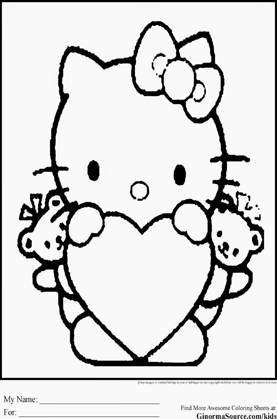 hello kitty pictures for coloring free printable hello kitty coloring pages for pages hello kitty coloring for pictures