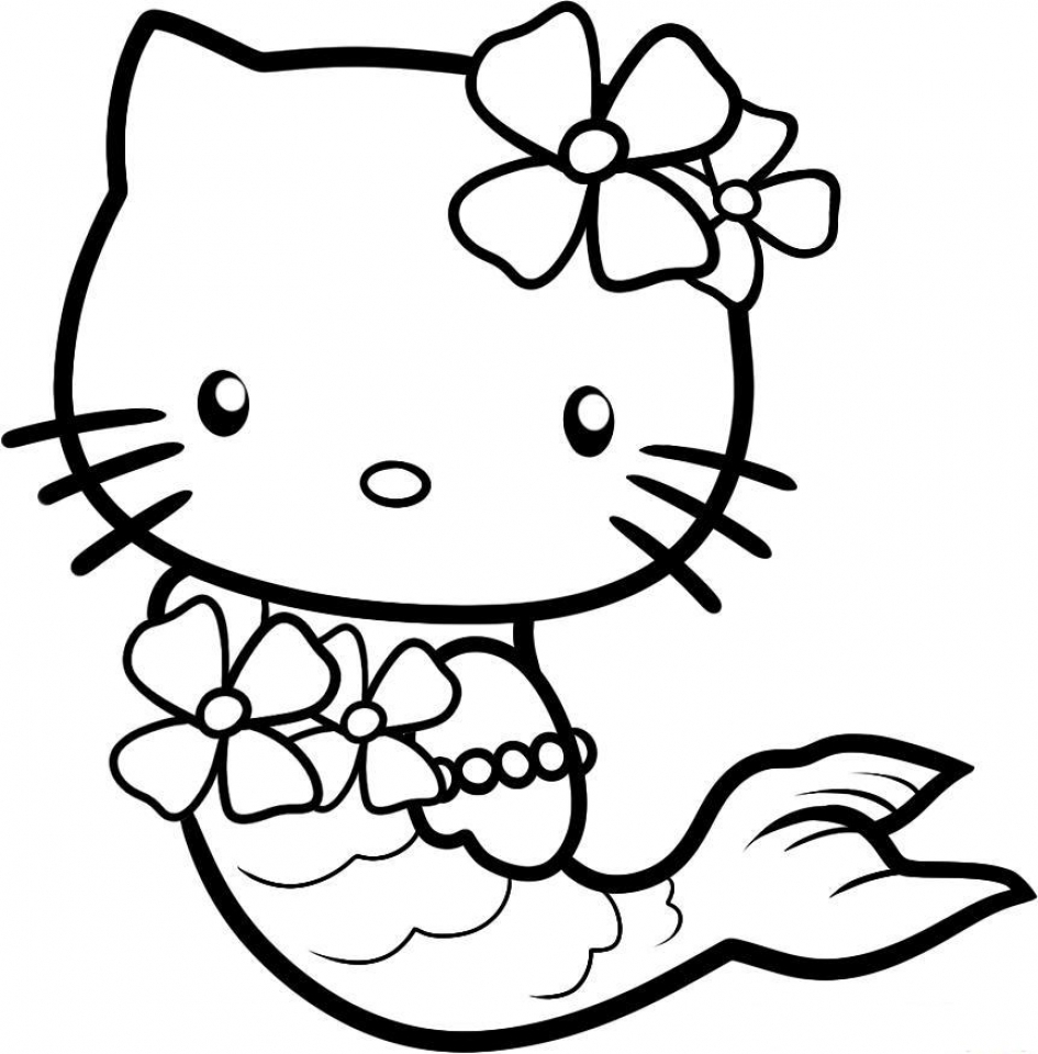 hello kitty pictures get this hello kitty coloring pages mermaid 0vn3b kitty hello pictures