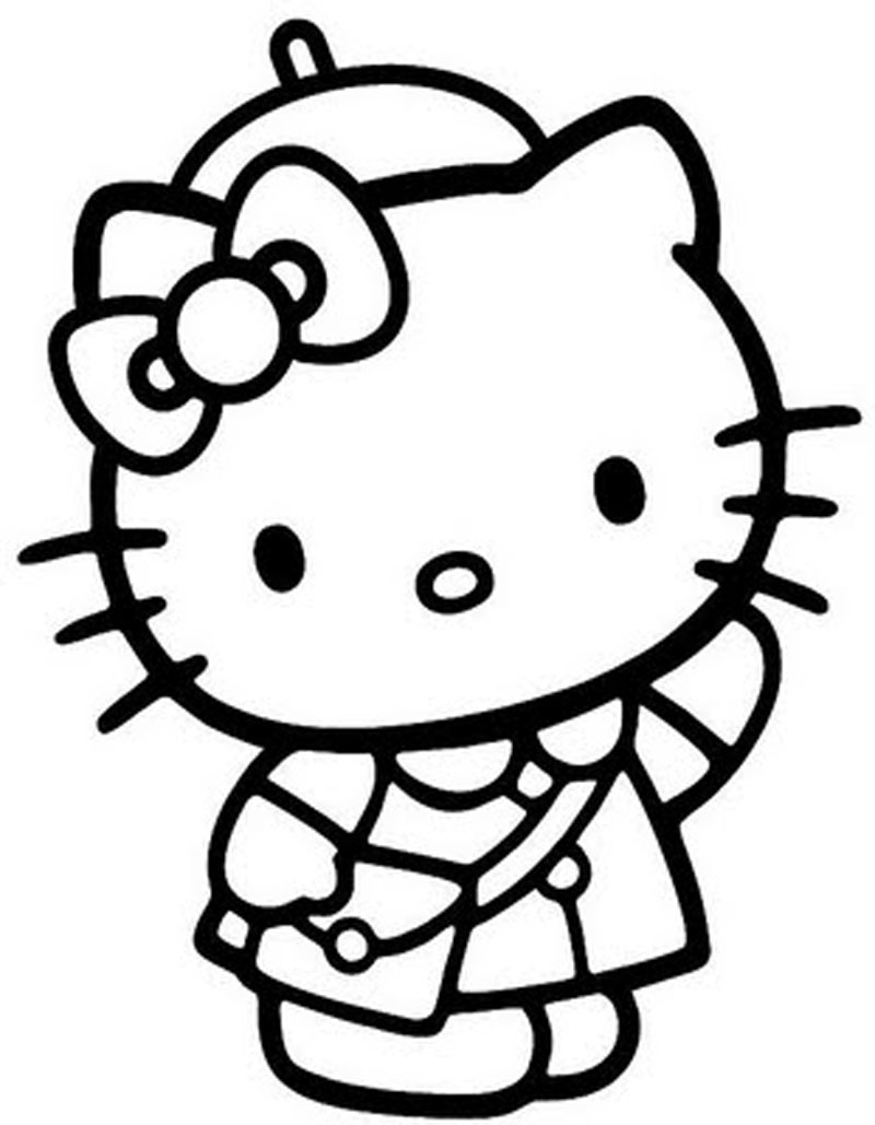 hello kitty pictures to print coloring pages for kids to color at getdrawings free kitty print to hello pictures