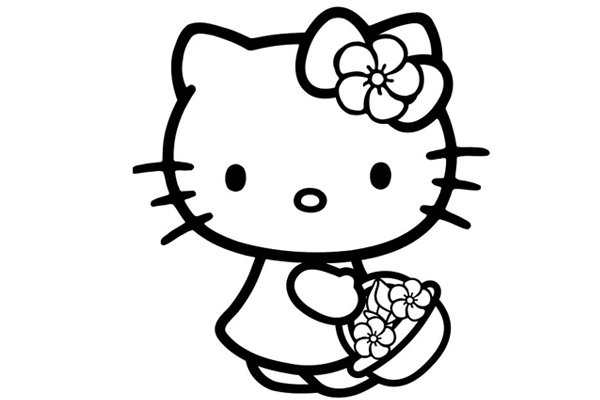 hello kitty pictures to print hello kitty coloring pages free for kids hello print pictures kitty to