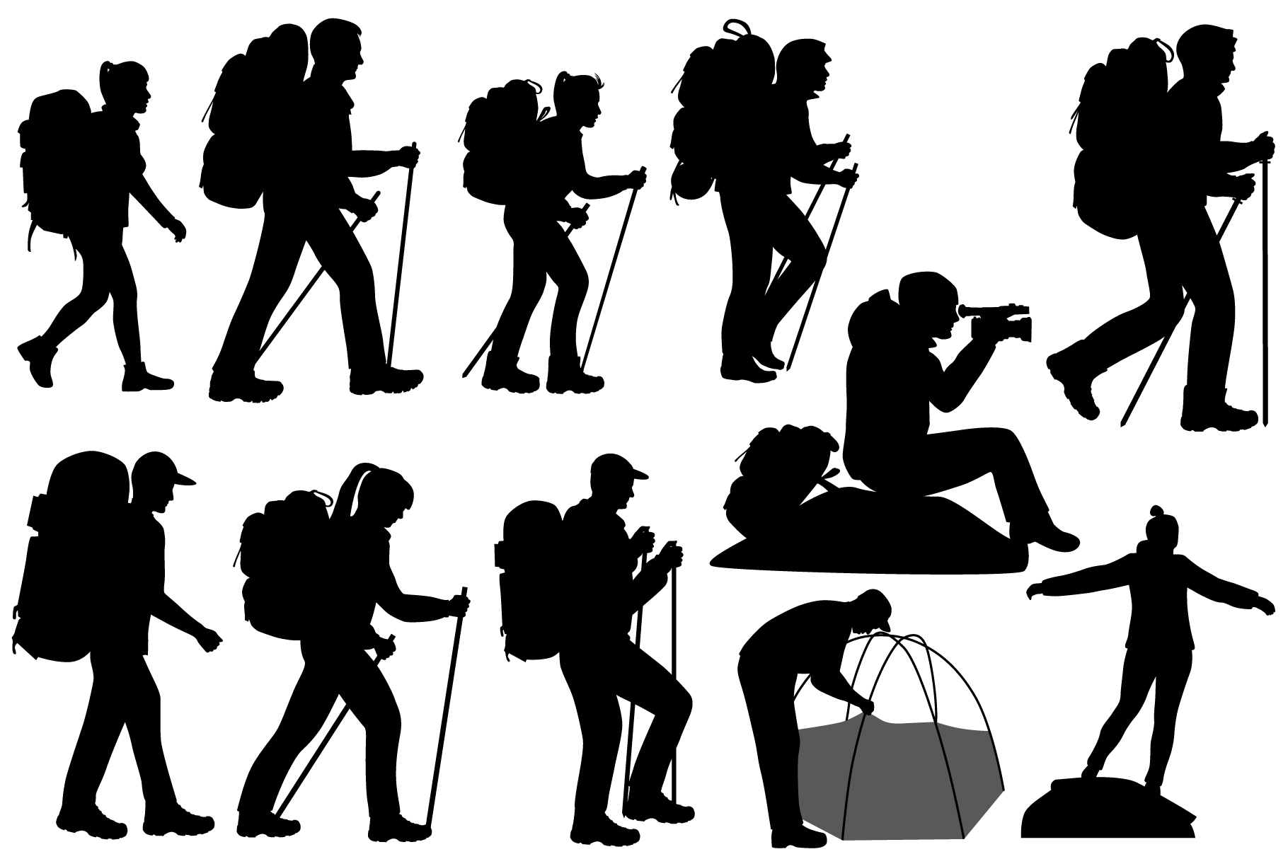 hiking silhouette 10 hiker silhouette png transparent onlygfxcom hiking silhouette