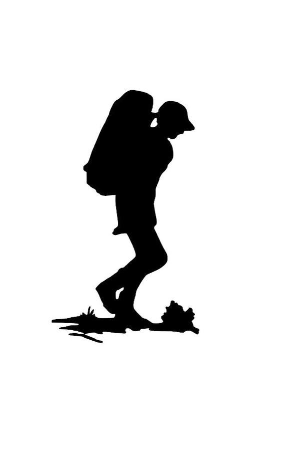 hiking silhouette hiker silhouette free vector silhouettes hiking silhouette