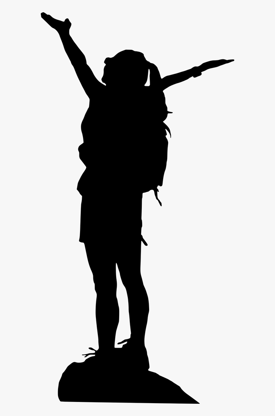 hiking silhouette hiker silhouette vector at vectorifiedcom collection of hiking silhouette