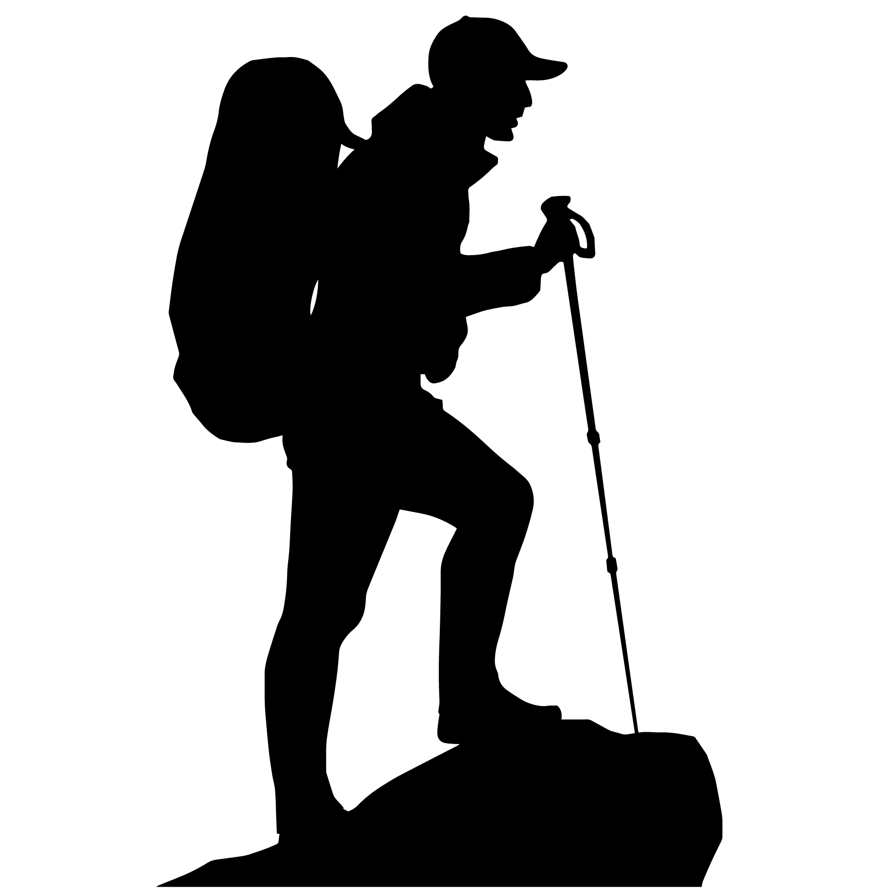 hiking silhouette hiking active safe silhouette hiking