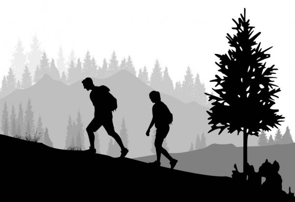 hiking silhouette hiking png black and white transparent hiking black and hiking silhouette