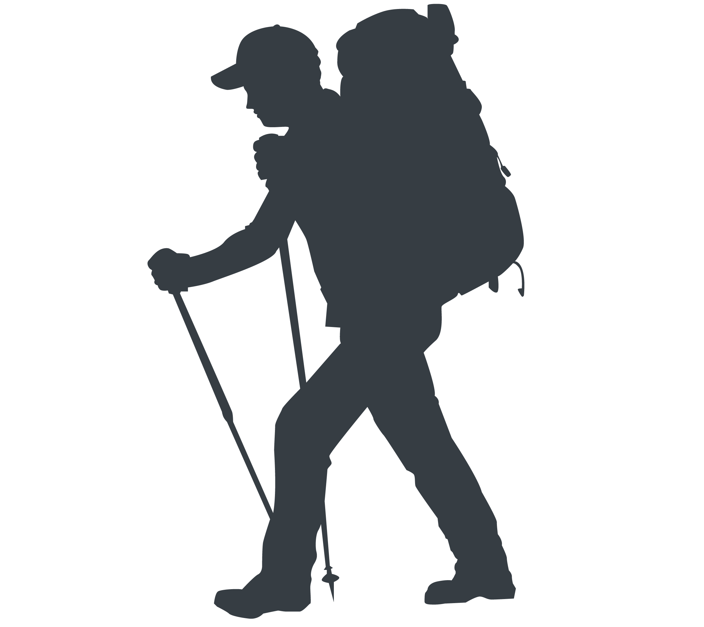 hiking silhouette hiking woman silhouette permanent adhesive outdoor decal hiking silhouette