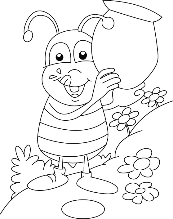 honey bee bee coloring pages bee coloring pages hives flowers and honey pages coloring honey bee bee