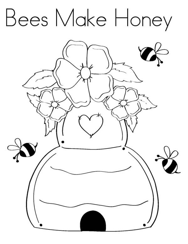 honey bee bee coloring pages couple of honey bee and tulips coloring pages coloring sky honey bee bee pages coloring