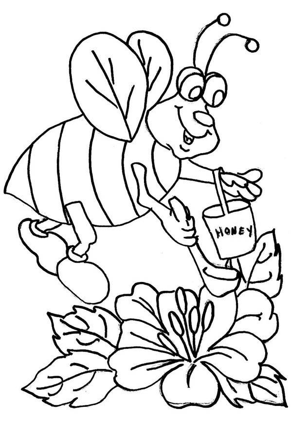 honey bee bee coloring pages printable happy honey bees coloring page honey coloring bee pages bee
