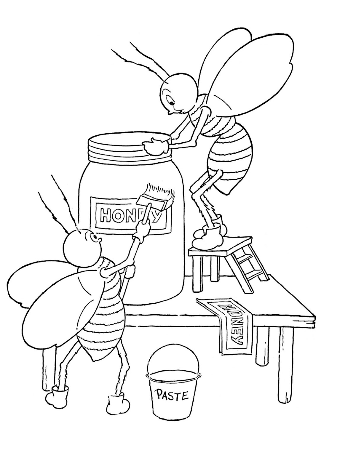 honey bee coloring sheet honey bee colouring pages clipart best coloring honey sheet bee