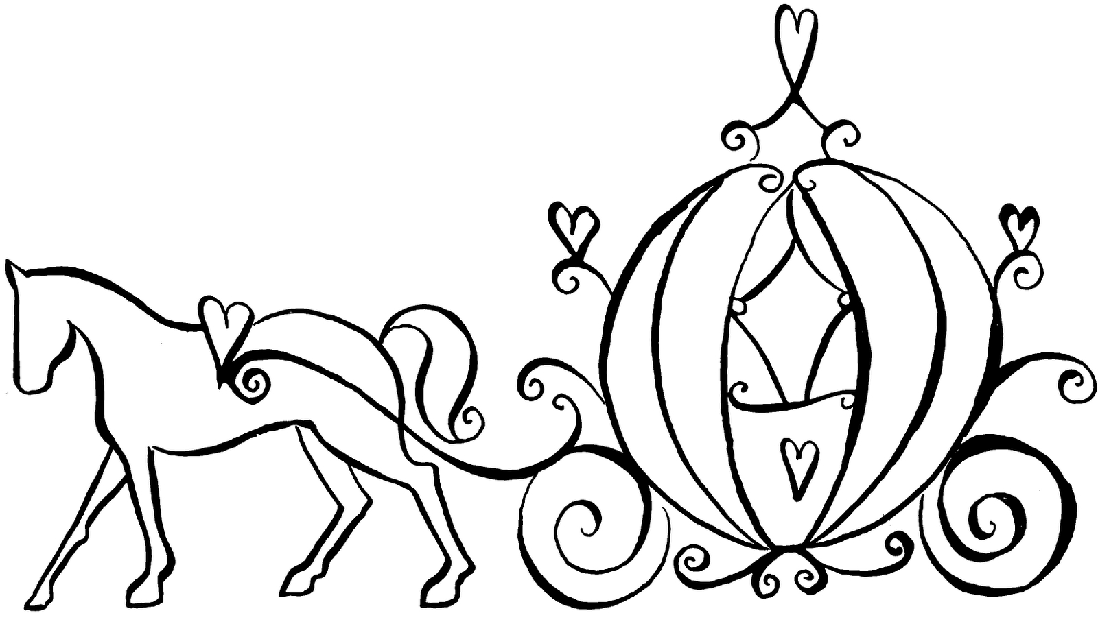 horse and carriage coloring pages cinderella carriage drawing at getdrawings free download horse and pages coloring carriage