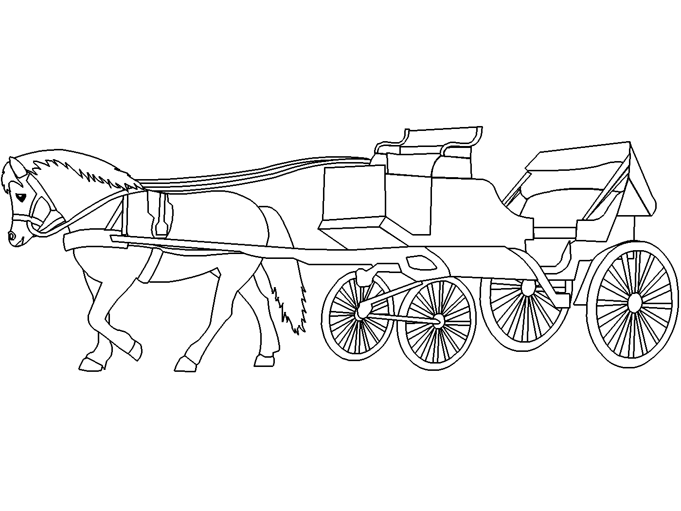 horse and carriage coloring pages horse and carriage coloring pages free coloringpages2019 coloring carriage horse and pages