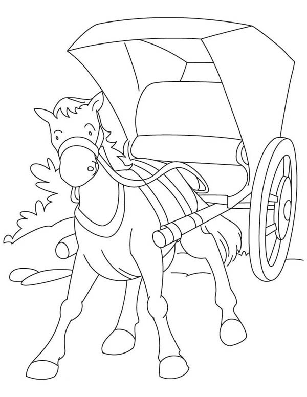 horse and carriage coloring pages horse cart drawing at getdrawings free download horse pages coloring and carriage