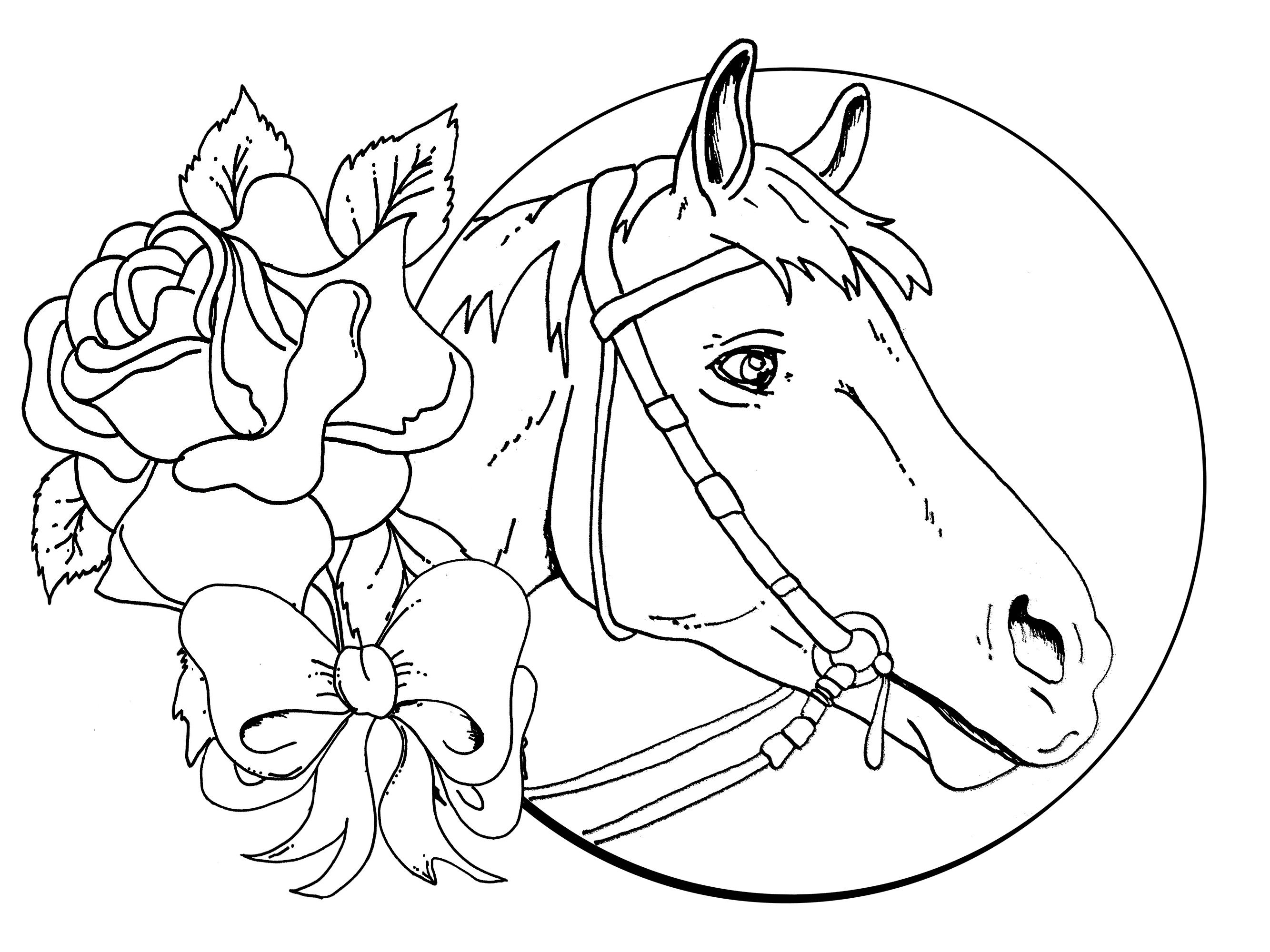 horse coloring image horse coloring pages for kindergarten learning printable horse image coloring