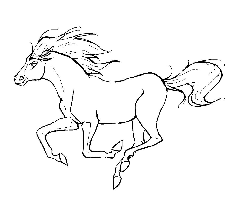 horse drawing coloring pages horse drawing realistic at getdrawings free download coloring horse pages drawing