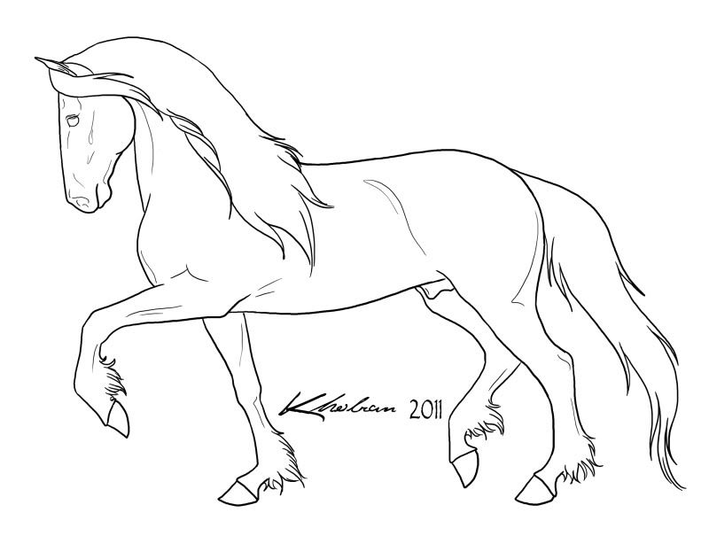 horse drawing coloring pages photo friesianstallionlines2jpg horse coloring pages drawing horse coloring pages