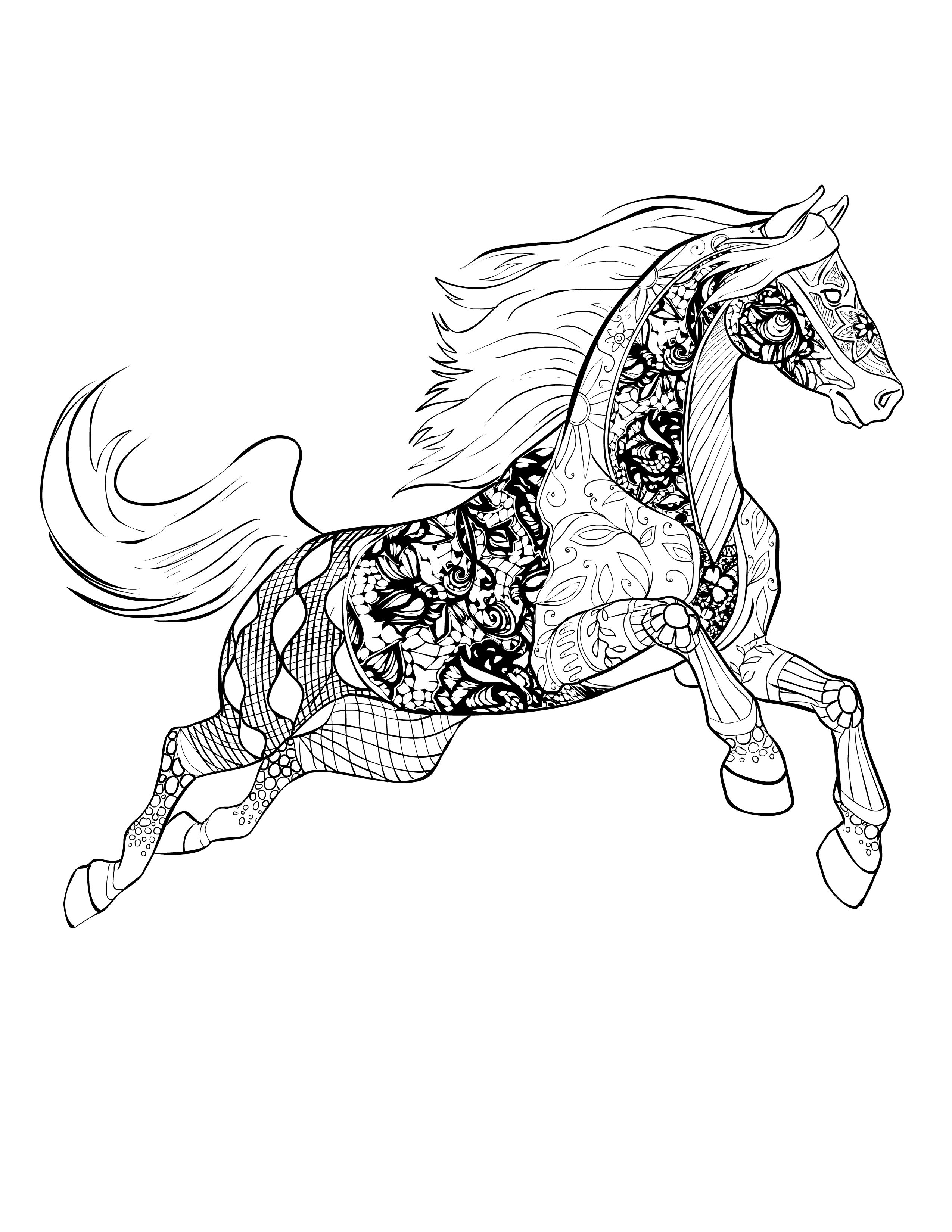 horse drawing coloring pages zentangle horse sketch coloring page coloring drawing pages horse
