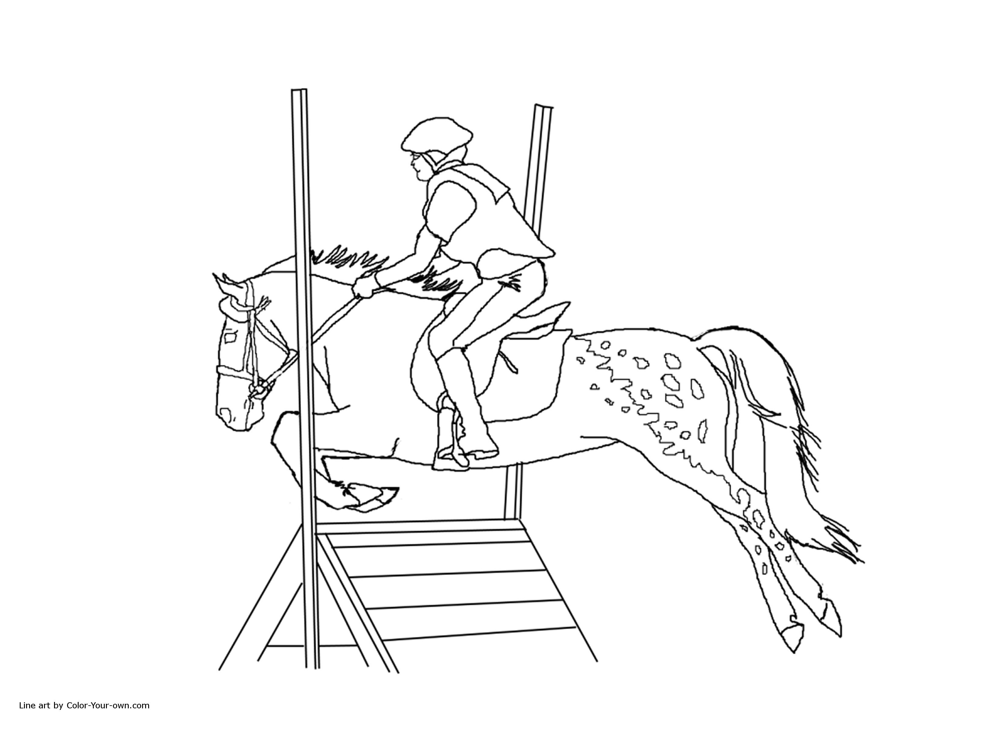 horse show jumping coloring pages 4 jumping horse printable coloring sheet for kids horse jumping coloring show pages