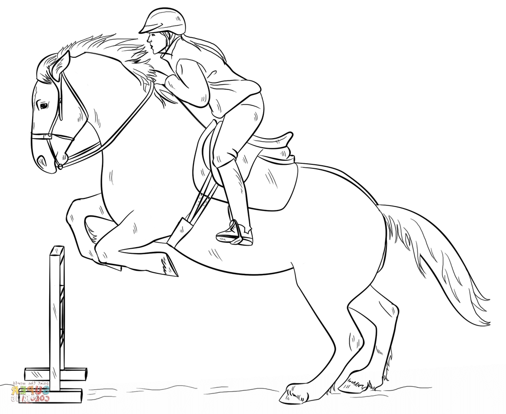 horse show jumping coloring pages equestriancoloringbooks pages jumping coloring horse show