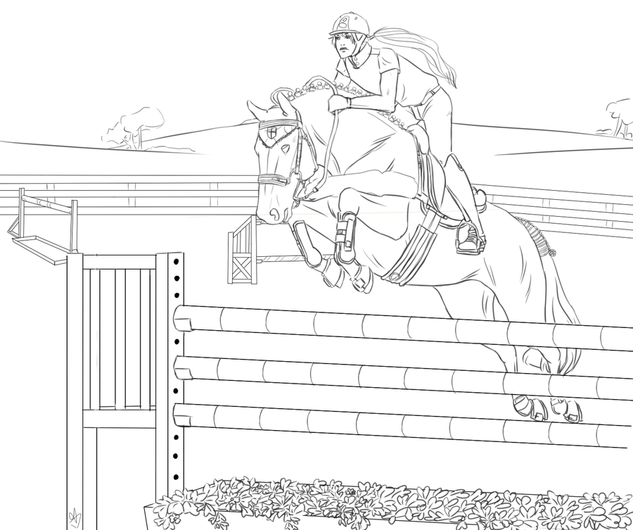 horse show jumping coloring pages horse jumping coloring pages at getcoloringscom free pages jumping show coloring horse