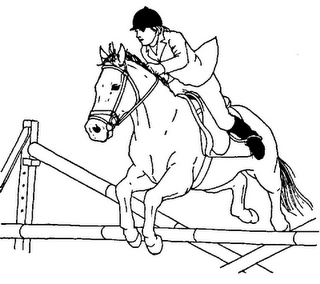horse show jumping coloring pages show steer silhouette at getdrawings free download jumping horse pages coloring show