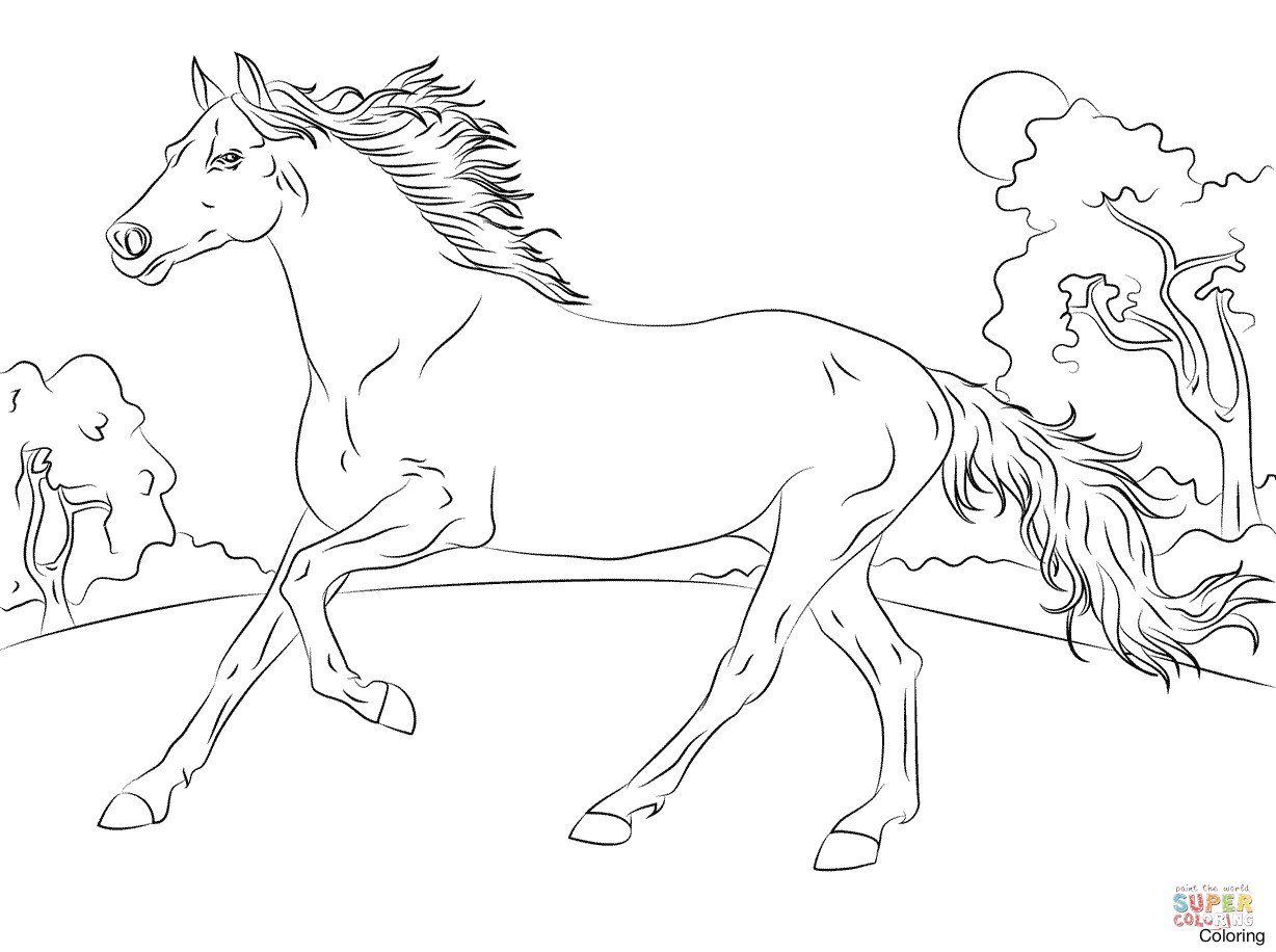 horses pictures to print hand drawn horse for adult coloring page art therapy stock print to pictures horses