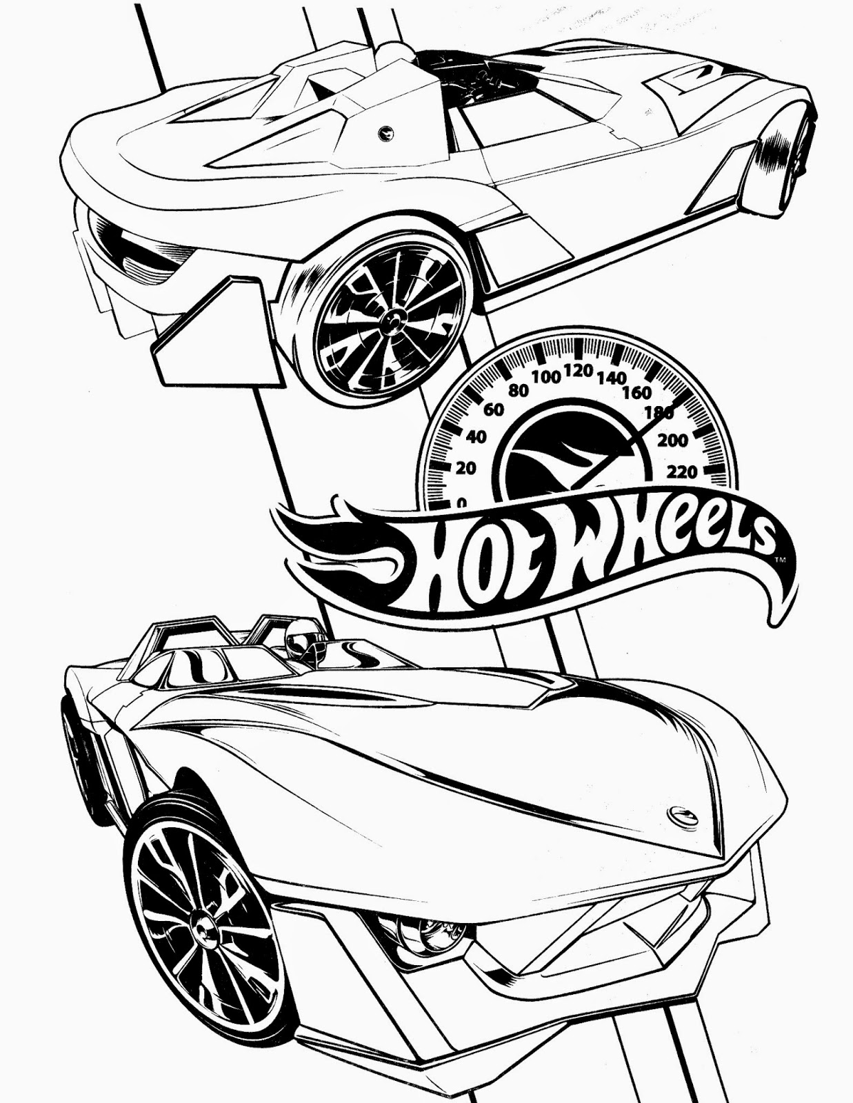 Hotwheels colouring pages