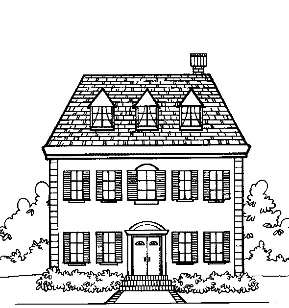 house for coloring free haunted house coloring page printable house for coloring