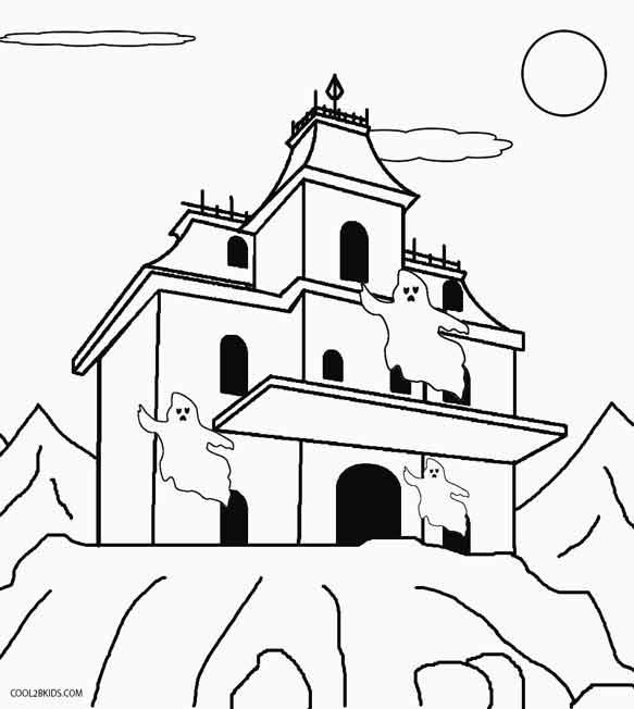 house for coloring free printable haunted house coloring pages for kids for house coloring